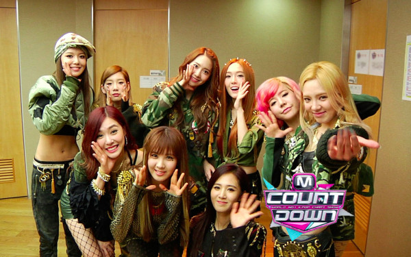 girls� generation wins first place on �m countdown� with