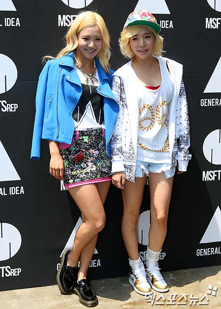 sunny and hyoyeon attend  u2018msftsrep x general idea