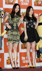 taeyeon seohyun despicableme2 premiere
