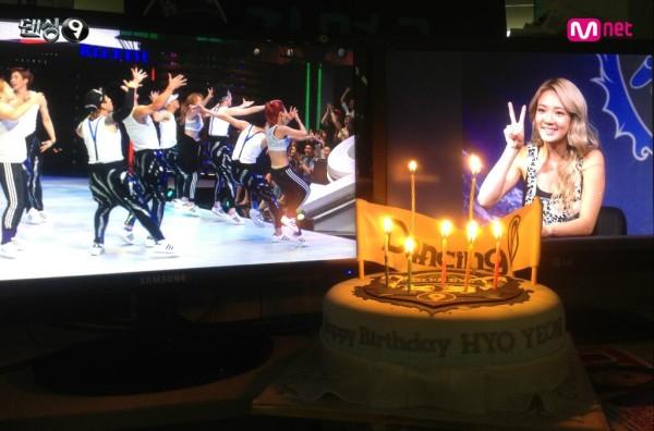 dancing 9 happybday hyoyeon