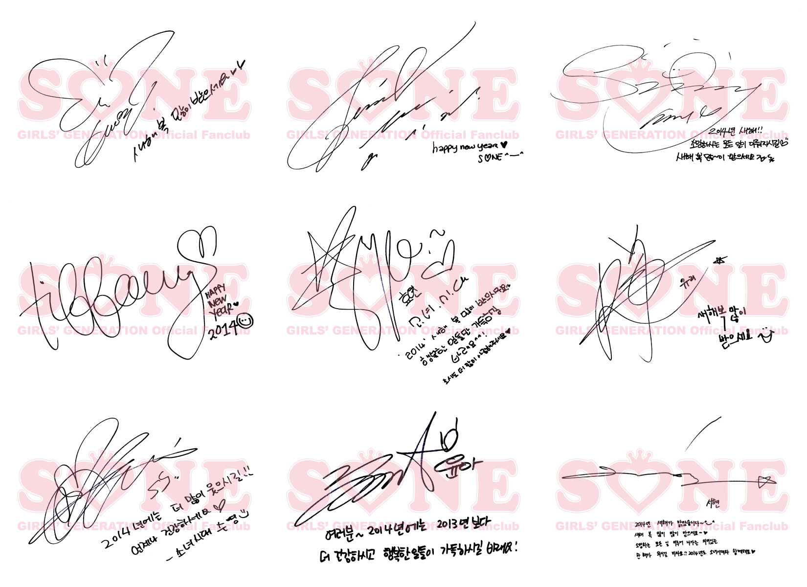 Girls' Generation Leaves Messages for the New Year: '2014 ...