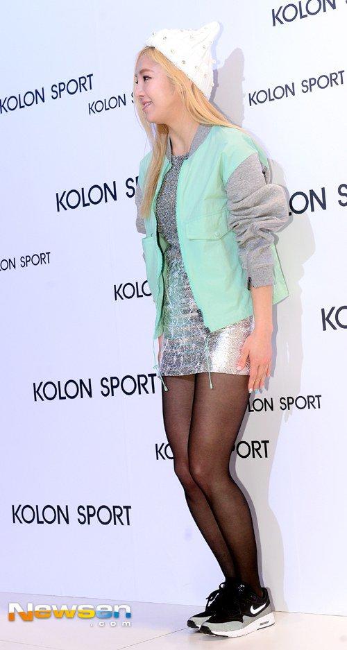 [150129] Hyoyeon y Yuri — Evento de Colección Primavera/Verano 2015 de Kolon Sport Hyoyeon1_1