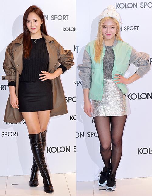 [150129] Hyoyeon y Yuri — Evento de Colección Primavera/Verano 2015 de Kolon Sport Hyoyul