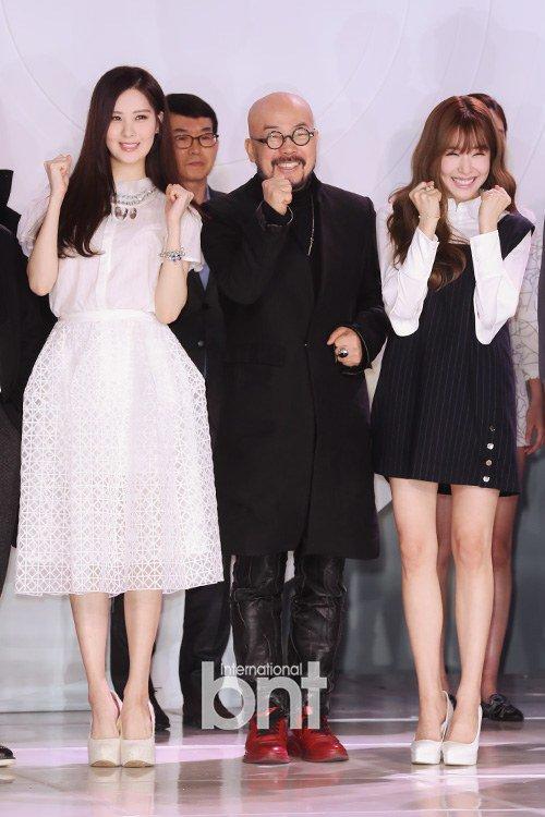 "[150129] Taeyeon, Tiffany y Seohyun — Ceremonia de Apertura de ""Fashion Kode 2015"" Snsd1"