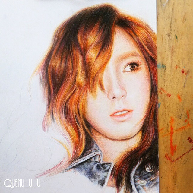 taeyeon holy crap is that just colored pencil
