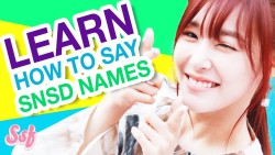 Learn to Say SNSD Names