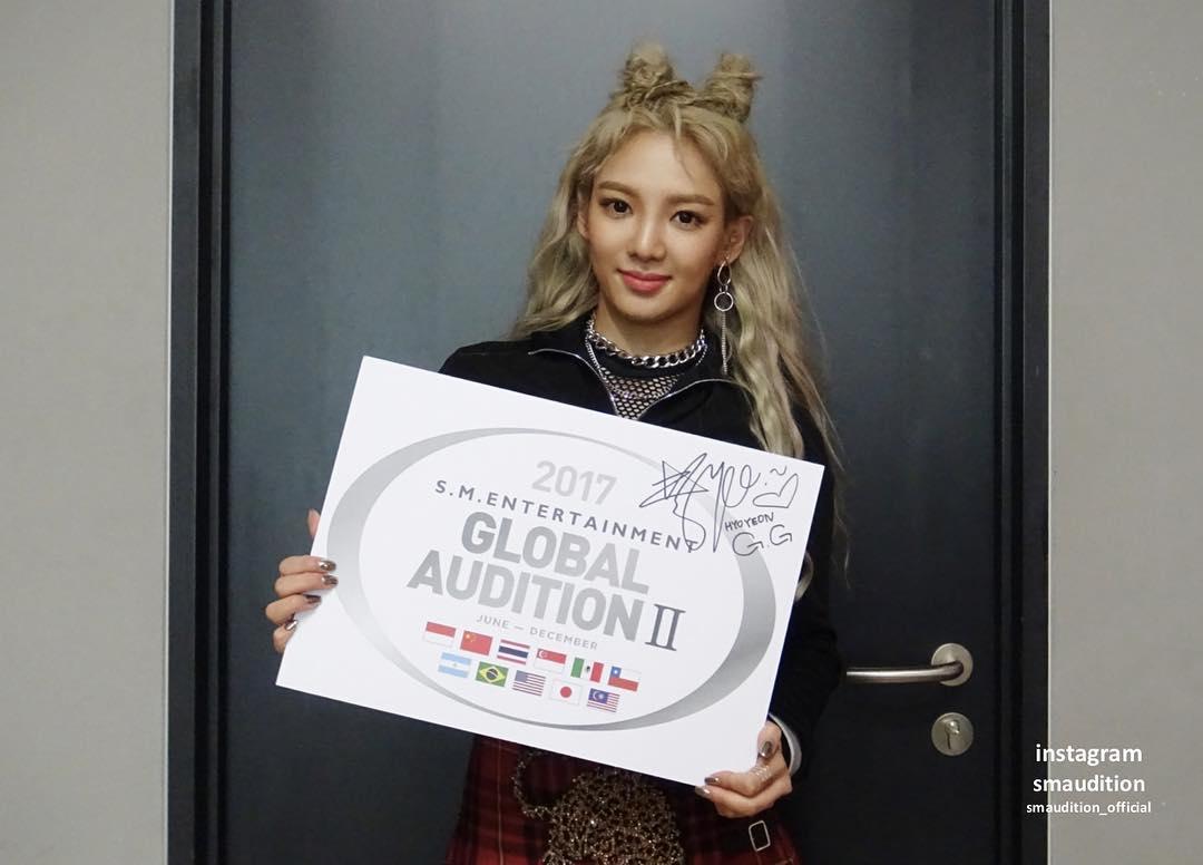 hyoyeon sm global audition